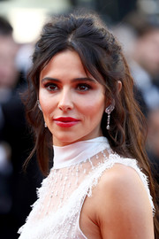 Cheryl Cole looked romantic with her messy half-up hairstyle at the Cannes Film Festival screening of 'Ash is the Purest White.'