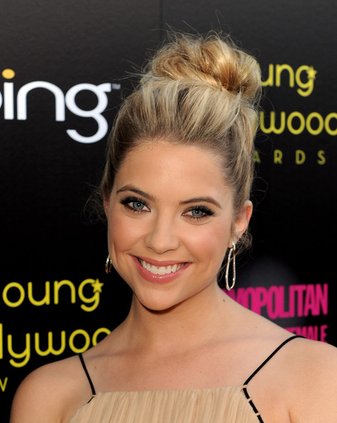 Ashley Benson Gold Hoops