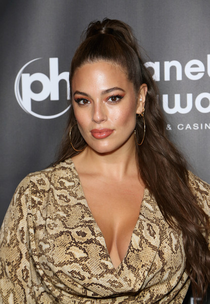 Ashley Graham Ponytail [all i have,finale,hair,hairstyle,eyebrow,beauty,skin,lip,brown hair,premiere,long hair,fashion,jennifer lopez,ashley graham,chow,model,residency,party,party,finale]