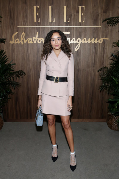 Ashley Madekwe Skirt Suit [clothing,fashion model,shoulder,fashion,dress,snapshot,street fashion,footwear,shoe,fashion design,arrivals,ashley madekwe,west hollywood,california,elle,ferragamo toast hollywood rising,ferragamo hollywood rising celebration]