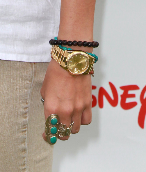 Ashley Tisdale Statement Ring [a time for heroes event,fashion accessory,green,jewellery,turquoise,bracelet,wrist,hand,body jewelry,finger,nail,arrivals,watch,jewelry,ashley tisdale,detail,veterans administration lawn,california,los angeles,elizabeth glaser pediatric aids foundation]