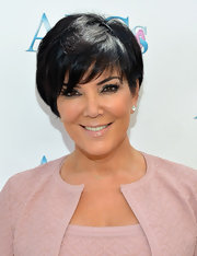 Kris Jenner wore her sleek tresses with wispy side-swept bangs at a Mother's Day Luncheon.
