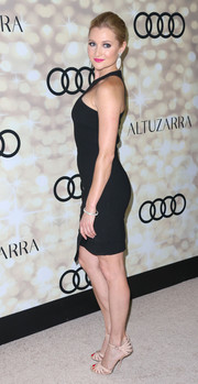 Katherine Bailess' nude evening sandals and LBD at the Emmy kick-off party were a very sexy pairing.