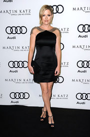Kathleen Robertson wore a beaded black cocktail dress for the Audi celebration.