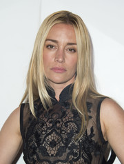 Piper Perabo wore her hair down in sleek layers during Audi's celebration of the Emmys.