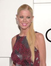 Tara Reid pulled her hair back into a sleek ponytail for Audi's celebration of Emmys week.