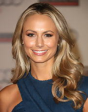 Stacy Keibler wore her hair in long curls at the grand opening of Audi Beverly Hills.