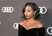 Bresha Webb looked stylish with her short wavy cut at the Audi Emmys celebration.