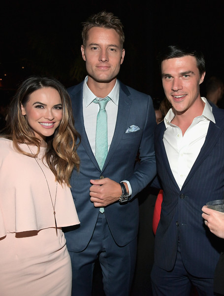 More Pics of Chrishell Stause Diamond Bracelet (1 of 4) - Chrishell Stause Lookbook - StyleBistro [suit,formal wear,event,fashion,tuxedo,white-collar worker,fun,smile,outerwear,premiere,69th emmys,chrishell stause,finn wittrock,justin hartley,emmys,l-r,dream hollywood,hollywood,california,audi celebrates]