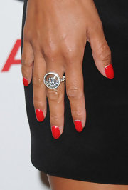 Nicole showed off her perfectly polished red polish while attending a Hollywood event.