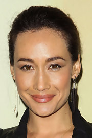 Maggie Q pulled her hair up in a classic bun for the Audi Golden Globes kickoff party.