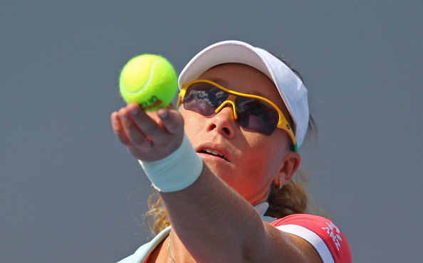 Check out these bright yellow shades on Samantha Stosur.  Cool!