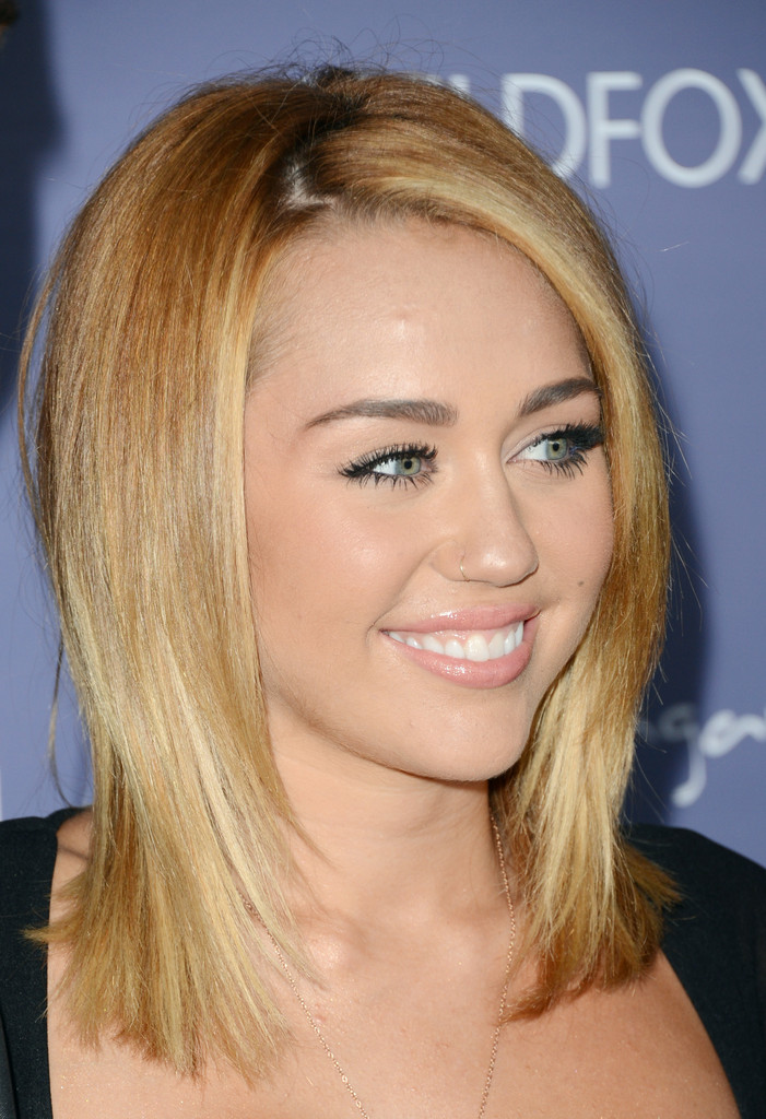 more pics of miley cyrus medium straight cut 6 of 51