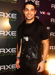 Wilmer Valderrama looked stylish wearing a scarf at the Axe Lounge.