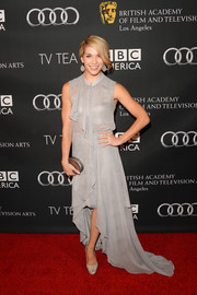 Allison Holker looked feminine and romantic in a flowy gray fishtail dress during the BAFTA LA TV Tea.
