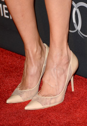 Cat Deeley hit the BAFTA LA red carpet wearing on-trend see-through cap-toe pumps.