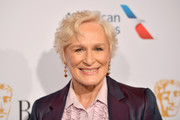 Glenn Close wore her hair in short curls at the BAFTA Los Angeles Tea Party.