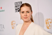 Amy Adams sported a casual center-parted ponytail at the BAFTA Los Angeles Tea Party.
