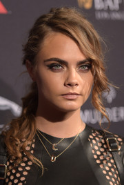 Cara Delevingne attended the BAFTA Los Angeles tea party rocking a punky ponytail.