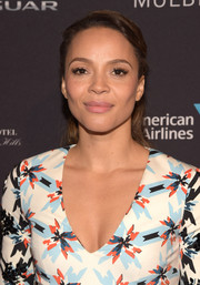 Carmen Ejogo opted for a simple ponytail when she attended the BAFTA Los Angeles tea party.