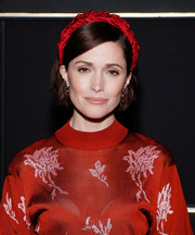 Rose Byrne matched her red dress with a braided satin headband for the BAM opening night of 'Medea.'
