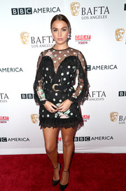 Camilla Luddington sported a playful mix of polka dots, lace, and ruffles in this Alice McCall number at the BAFTA Los Angeles TV tea party.