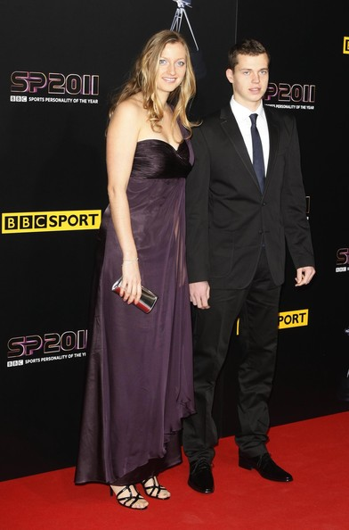 An elegant purple gown gave Petra a Grecian look at the BBC event.