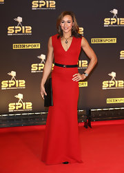 Jessica Ennis' elegant red evening dress at the BBC Sports Personality of the Year Awards fit her svelte physique perfectly.