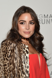 Olivia Culpo looked oh-so-pretty with her flyaway curls at the BCBG Max Azria fashion show.