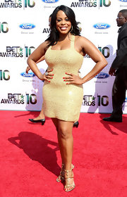 Niecy showed off her phenomenal curves in a sequined mini dress at the BET Awards.