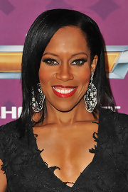 Regina King styled her hair in sleek straight layers for the 2012 Black Girls Rock event.