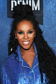 June Ambrose nailed punk glam with this voluminous, partially braided half-up style at the BET How to Rock: Denim event.