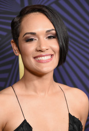 Grace Gealey attended the American Black Film Festival Honors rocking a short, asymmetrical hairstyle.