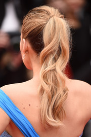 Blake Lively styled her hair into a wavy ponytail for the Cannes premiere of 'The BFG.'