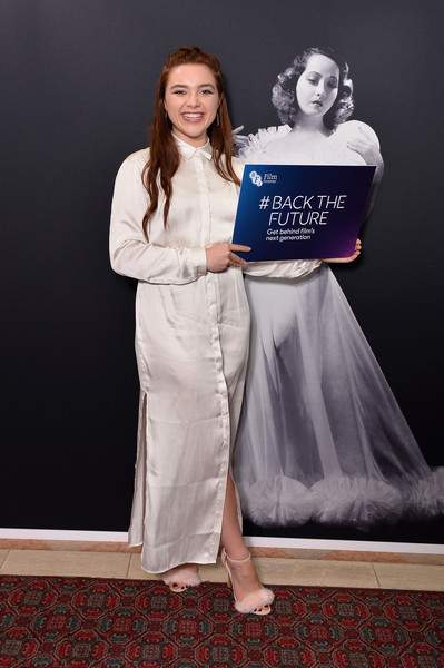 More Pics of Florence Pugh Evening Sandals (1 of 5) - Heels Lookbook - StyleBistro [fashion,dress,fashion design,flooring,event,photography,carpet,gown,the guildhall,london,england,bfi luminous fundraising gala,florence pugh]