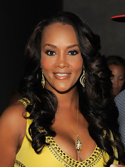 Vivica A. Fox attended BJ Coleman's 31st birthday party at Polar Lounge looking flawless. With a little shimmering shadow and lengthy lashes, her eyes were the main focus.
