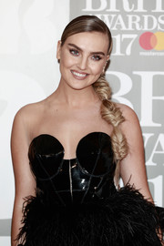 Perrie Edwards looked enchanting with her segmented fishtail braid at the Brit Awards.
