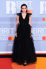 Charli XCX was a goth princess in a black tulle gown by Fendi at the 2020 BRIT Awards.
