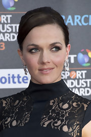Victoria Pendleton chose a nude lip to keep her red carpet look fresh and young.