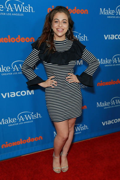 Baby Ariel Print Dress [ariel,wish gala - arrivals,clothing,cocktail dress,dress,electric blue,premiere,carpet,joint,fashion model,long hair,flooring,the beverly hilton hotel,beverly hills,california,arrivals]