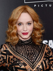 Christina Hendricks was stylishly coiffed with face-framing curls at the New York premiere of 'Bad Santa 2.'