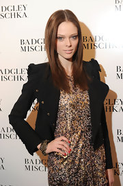 Coco Rocha gave her nails a polishing with a classic red shade for the Badgley Mischka fall 2012 fashion show.