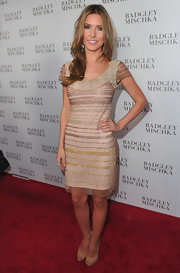 Audrina Patridge donned classic nude peep toes to the Badgley Mischka store opening.