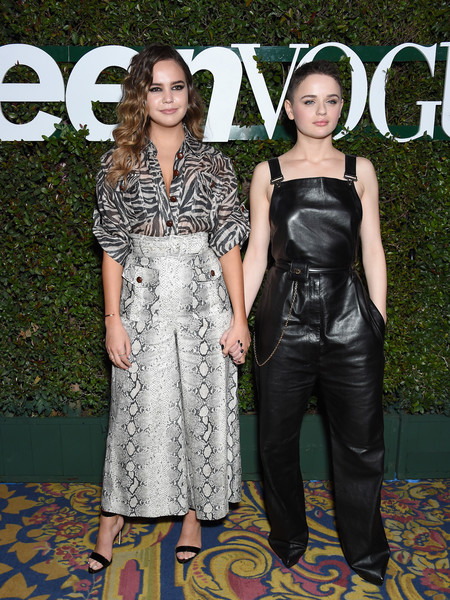 Bailee Madison Print Blouse [young hollywood party,teen vogue,clothing,dress,carpet,fashion,red carpet,premiere,event,fashion design,flooring,style,los angeles theatre,california,arrivals,joey king,bailee madison,snap]
