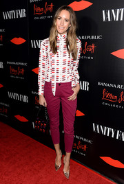 Louise Roe was casual-smart in a lip-print blouse by L'Wren Scott for Banana Republic during the collaboration's launch party.