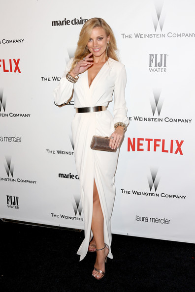 Bar Paly Wrap Dress [clothing,dress,shoulder,suit,hairstyle,fashion,red carpet,carpet,footwear,formal wear,bar paly,model,beverly hills,california,weinstein company,netflix,party,golden globes,robinsons may,arrivals]