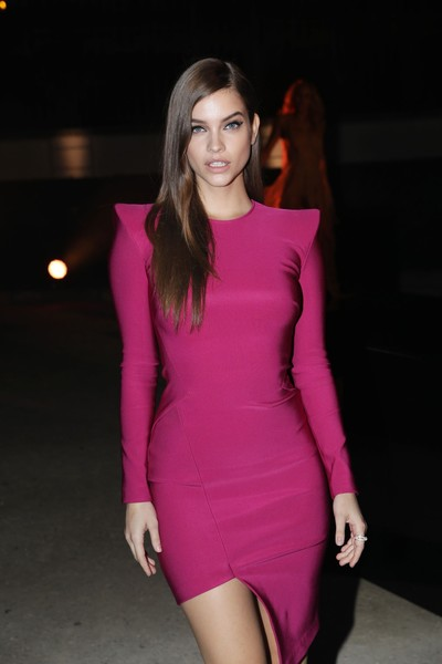Barbara Palvin Shoulder Pad Dress