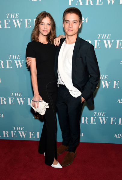 Barbara Palvin Quilted Purse [the farewell,suit,premiere,carpet,formal wear,tuxedo,event,red carpet,flooring,dress,pantsuit,barbara palvin,dylan sprouse,new york,metrograph,screening,new york screening]