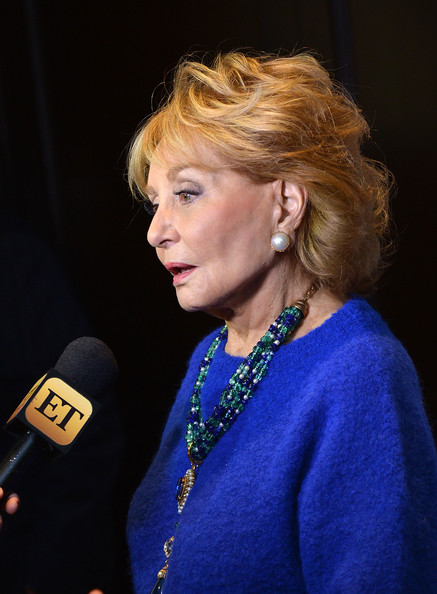 Barbara Walters Short Wavy Cut [hair,hairstyle,blond,lady,electric blue,long hair,layered hair,new york city,the waldorf astoria,breast cancer research foundations symposium awards luncheon,barbara walters]