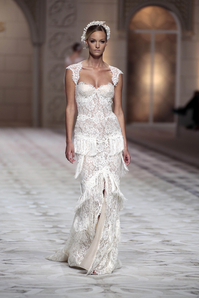 Lace and fringe the most gorgeous wedding gowns from for Wedding dresses in barcelona spain